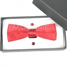 Nœud papillon de fascination rouge mariage satin