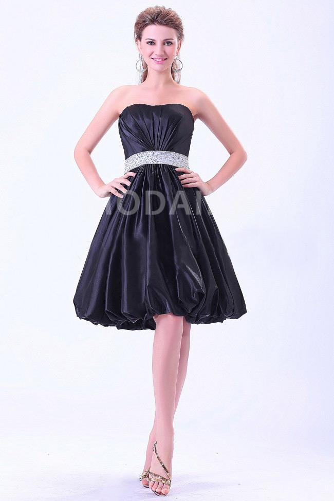 robe de demoiselle d 39 honneur ballon courte bustier perles taffetas m1302184218 modanie. Black Bedroom Furniture Sets. Home Design Ideas