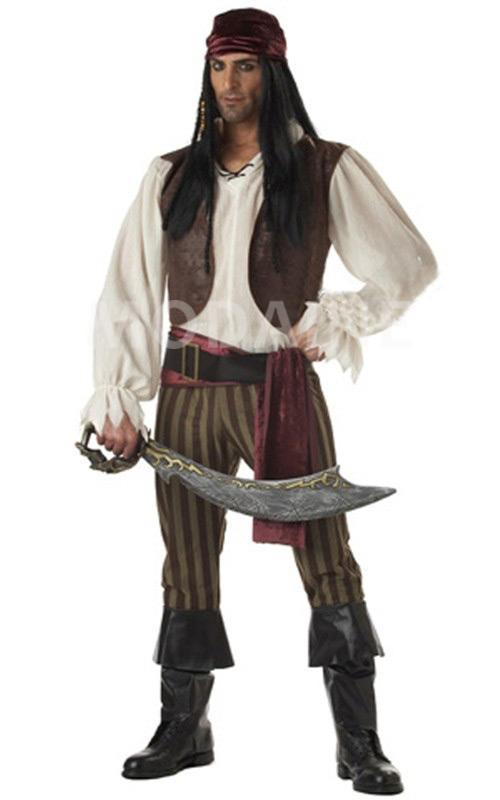 pirate halloween d guisement costume cosplay sexy homme. Black Bedroom Furniture Sets. Home Design Ideas