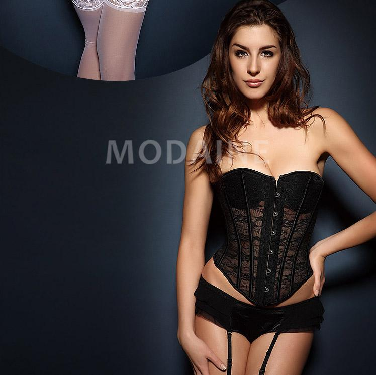 lingerie mariage bustier pas cher sans bretelles dentelle sexy m1502034443 modanie. Black Bedroom Furniture Sets. Home Design Ideas